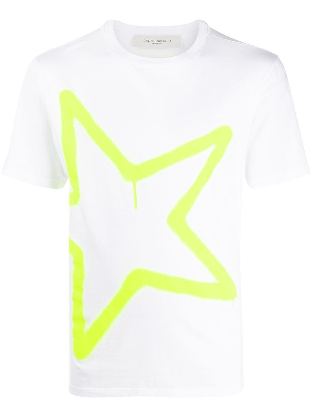 GOLDEN GOOSE DELUXE BRAND Fluo Star T-Shirt