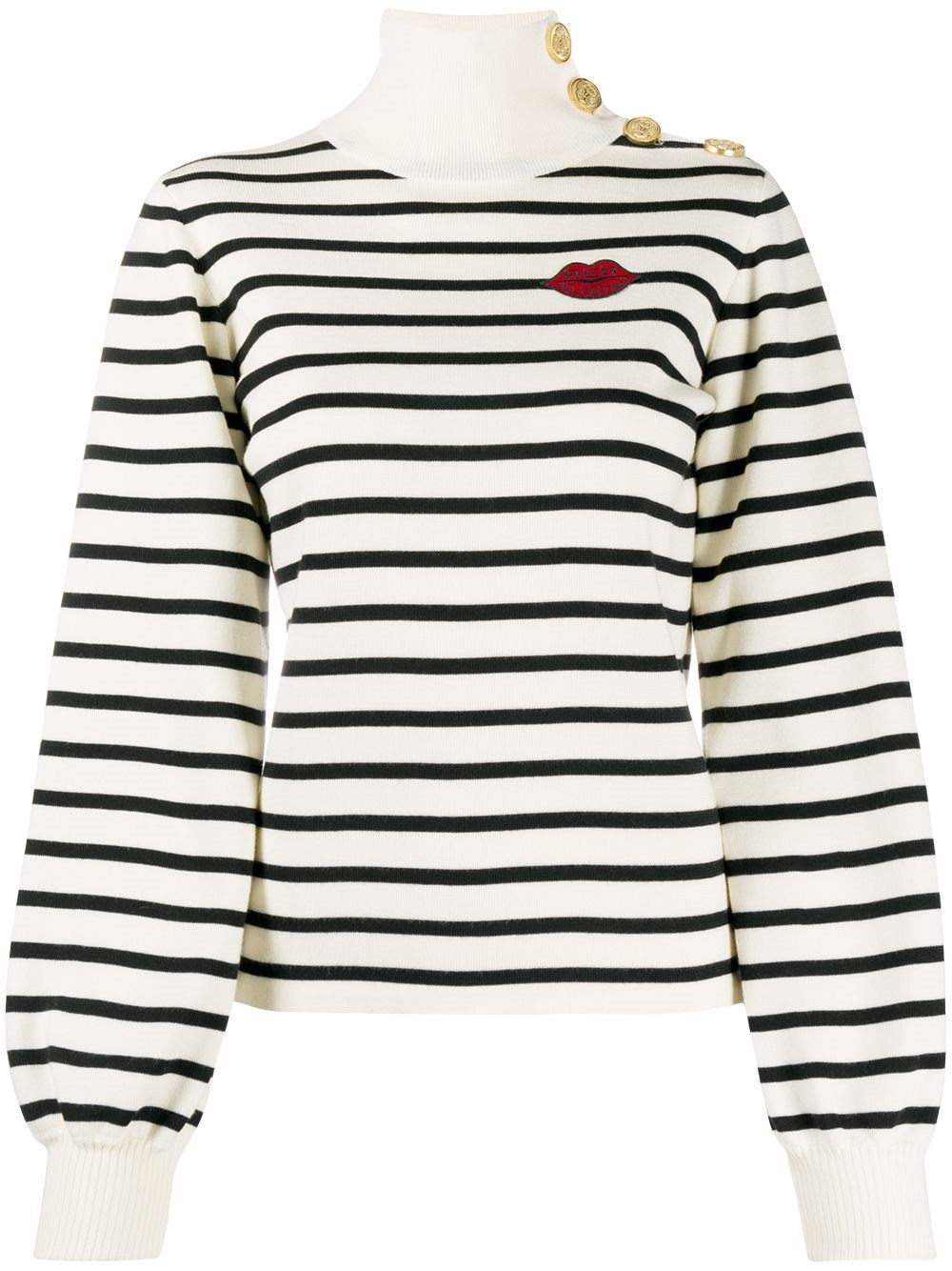 REDVALENTINO Sailor-Style Wool Knit Sweater