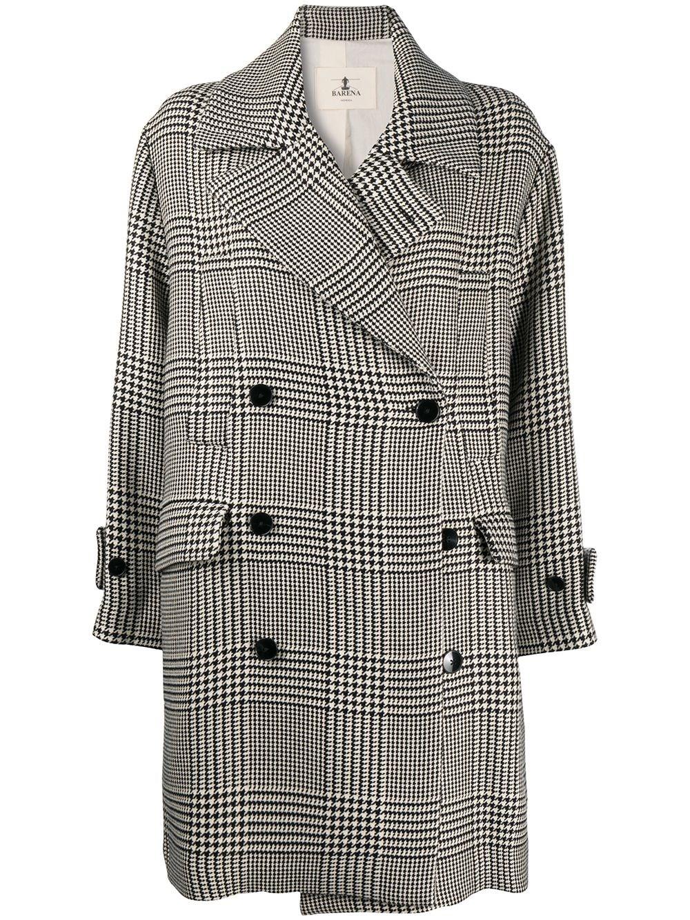BARENA VENEZIA Checked Double Breasted Coat