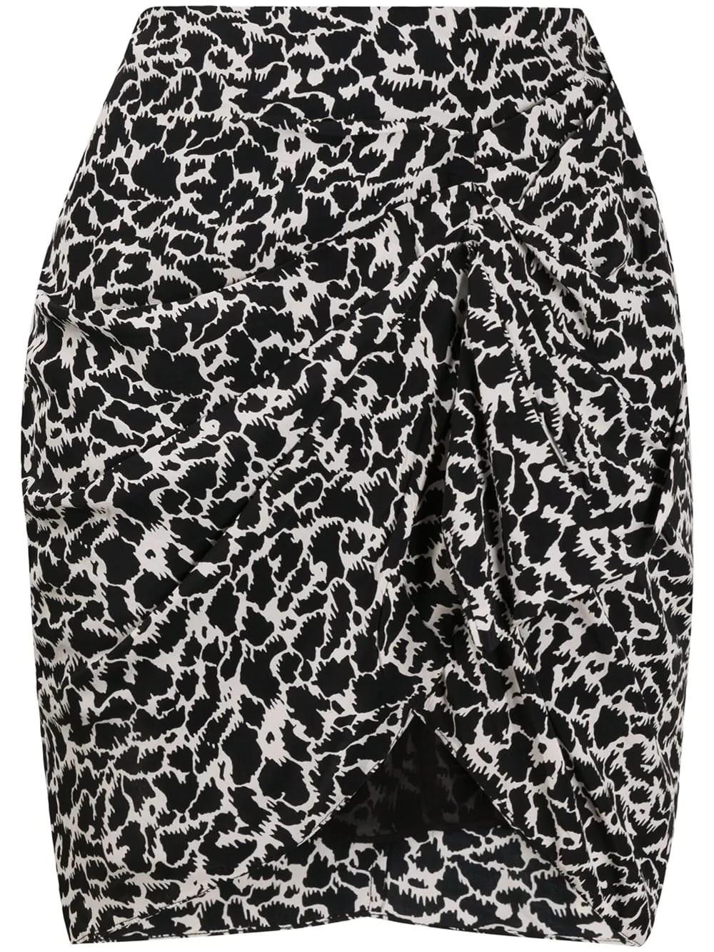 ISABEL MARANT ETOILE Draped Mini Skirt