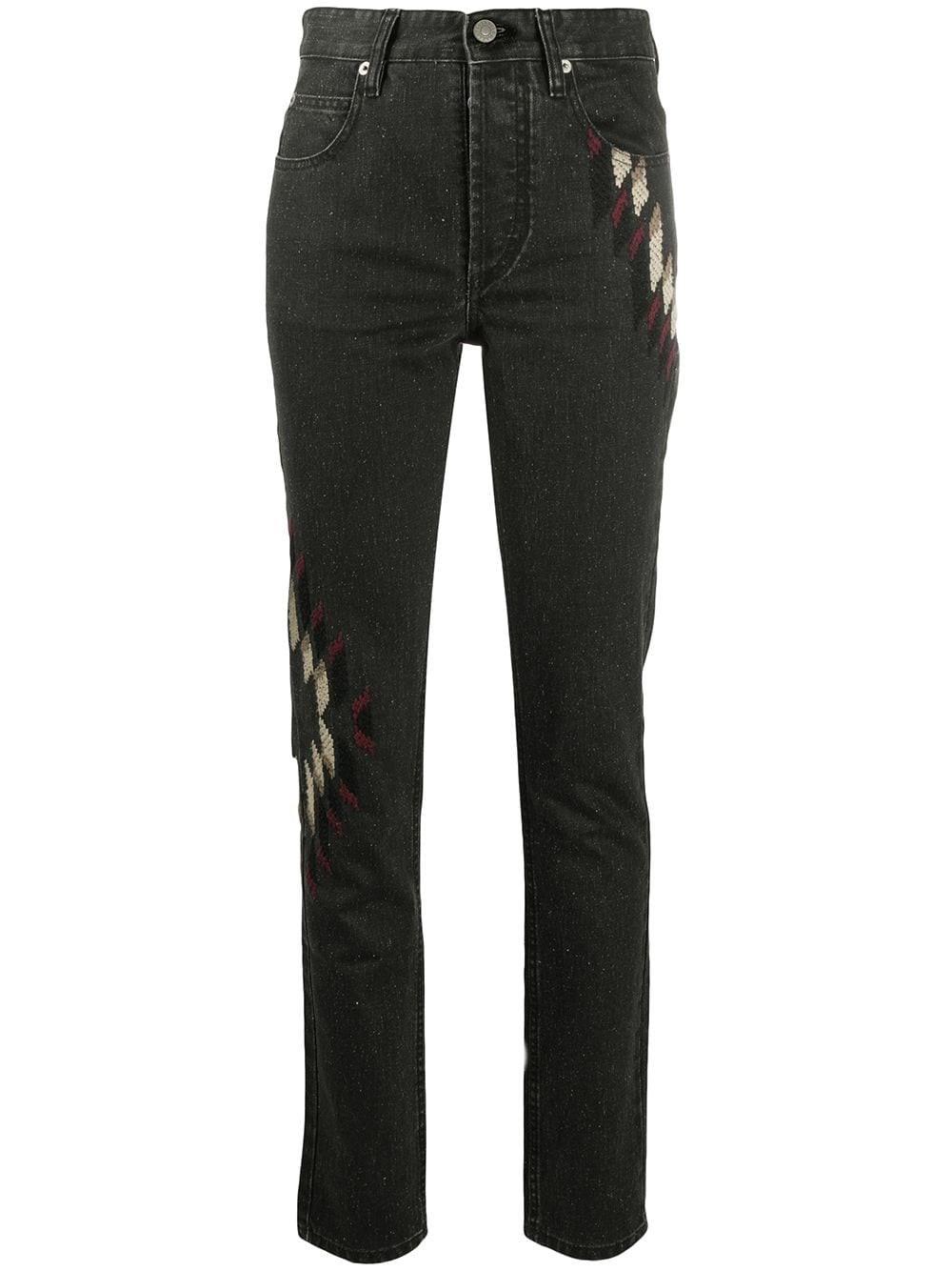 "ISABEL MARANT ETOILE ""Bilianab"" Embroidered Jeans"