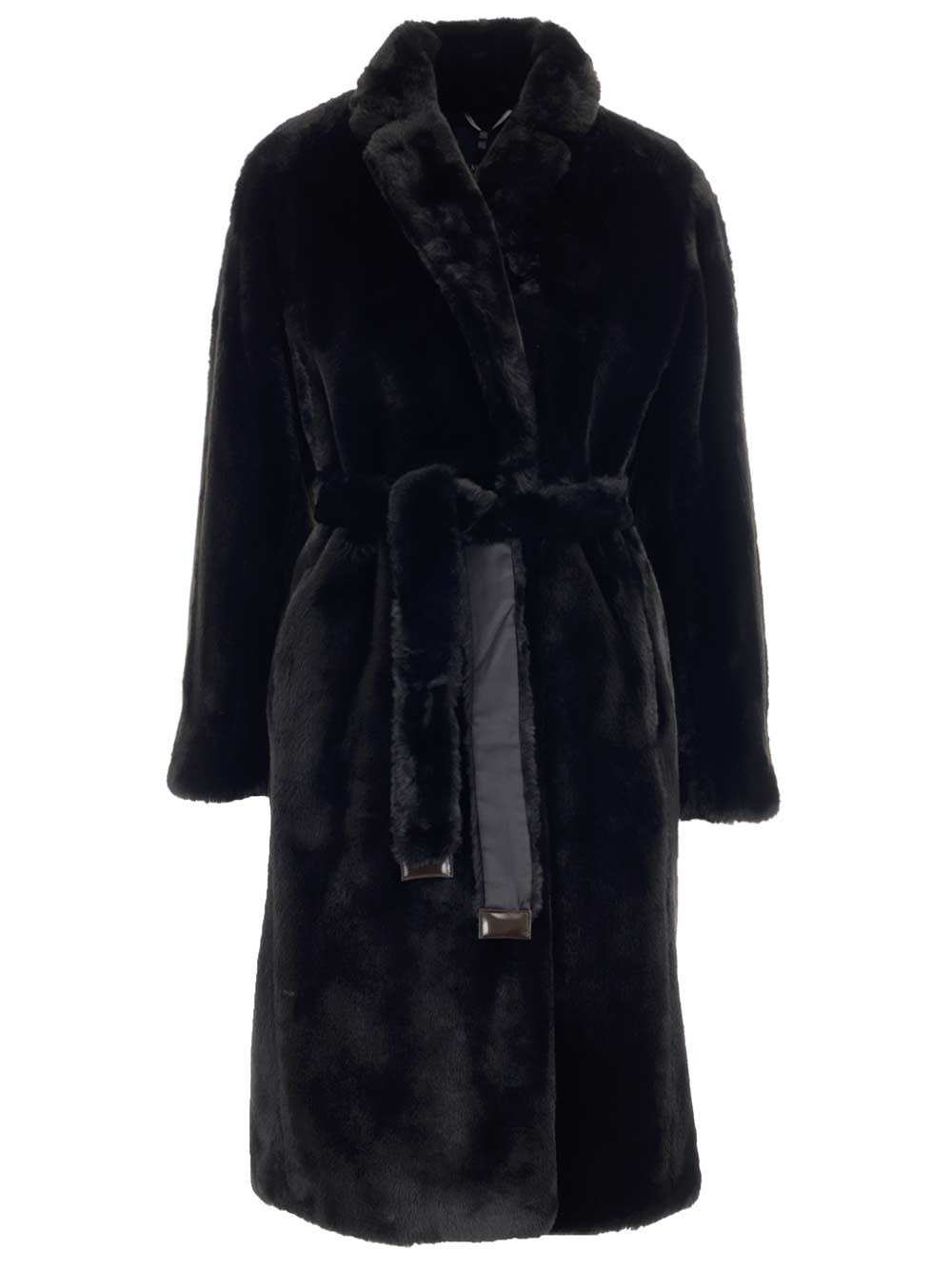 'S MAX MARA Faux Fur Long Coat