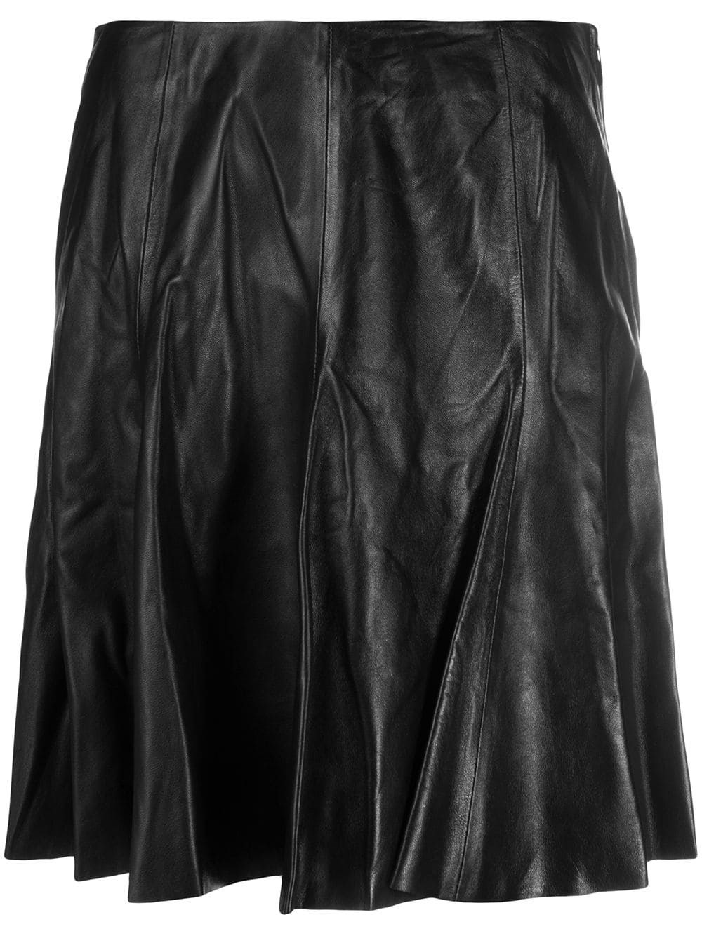 ARMA Leather Flared Mini Skirt