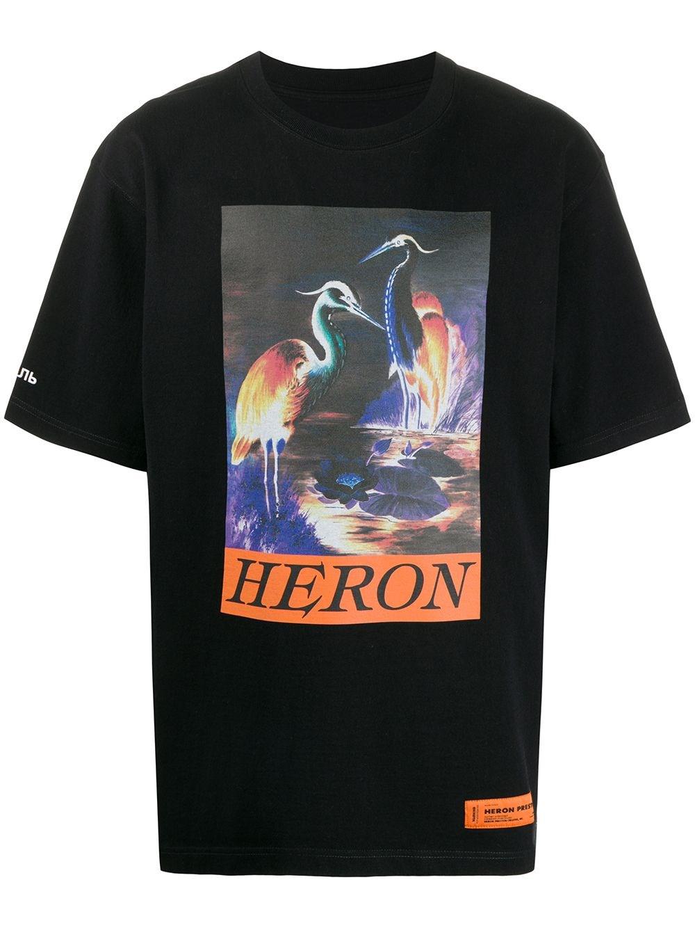 HERON PRESTON Black Oversize T-Shirt