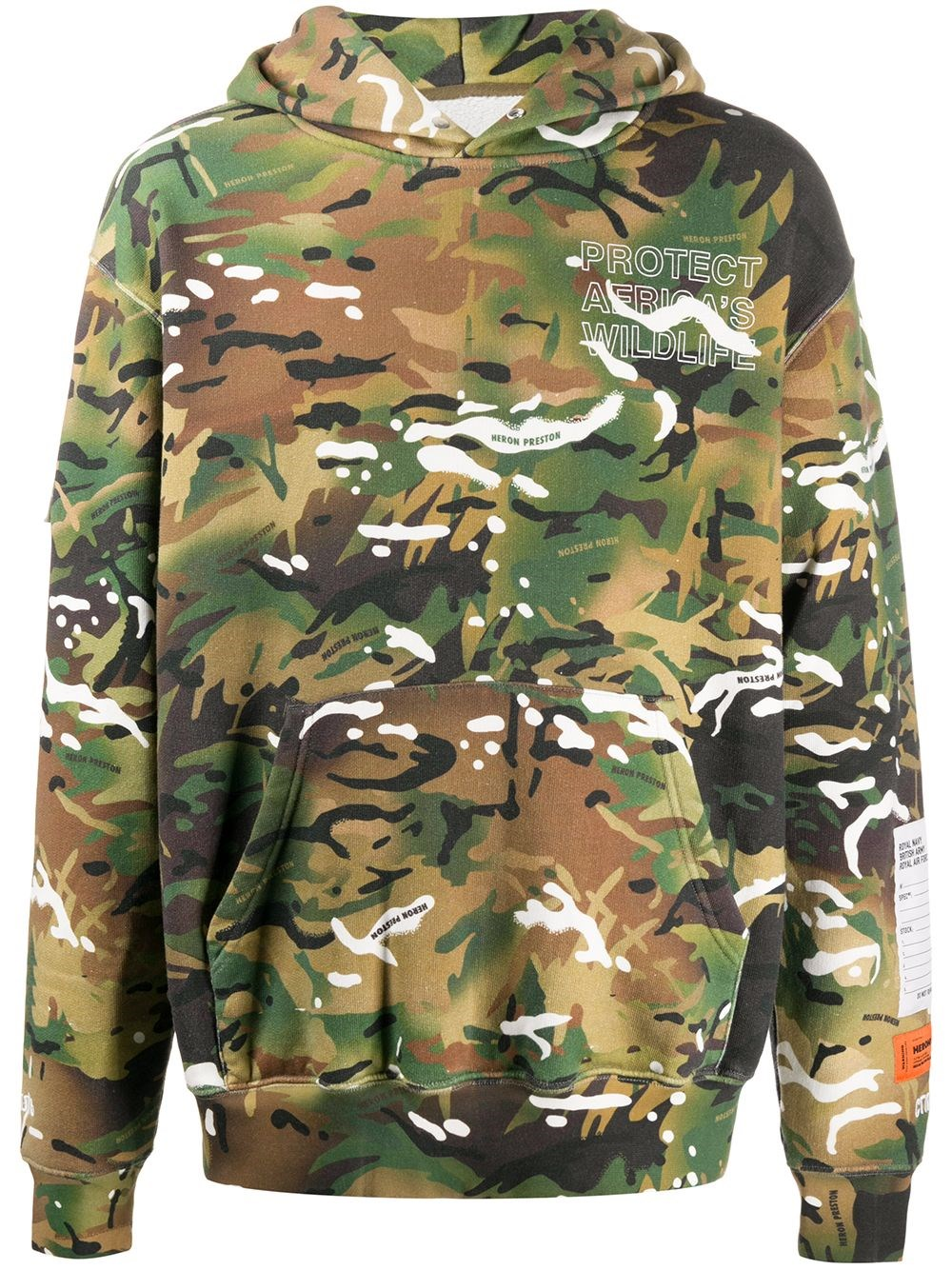 HERON PRESTON Camouflage Hoodie