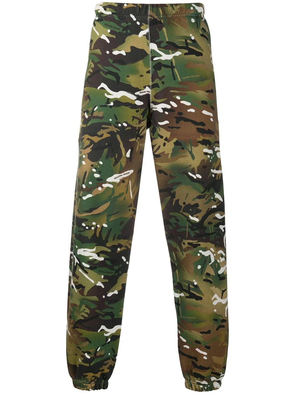 HERON PRESTON Camouflage Track Pants