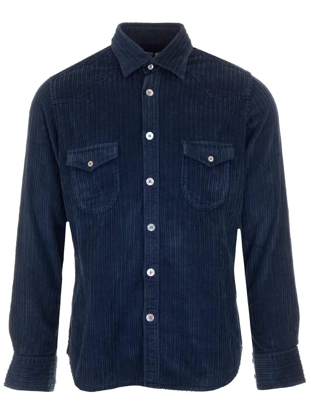 AL DUCA D'AOSTA 1902 Corduroy Casual Shirt
