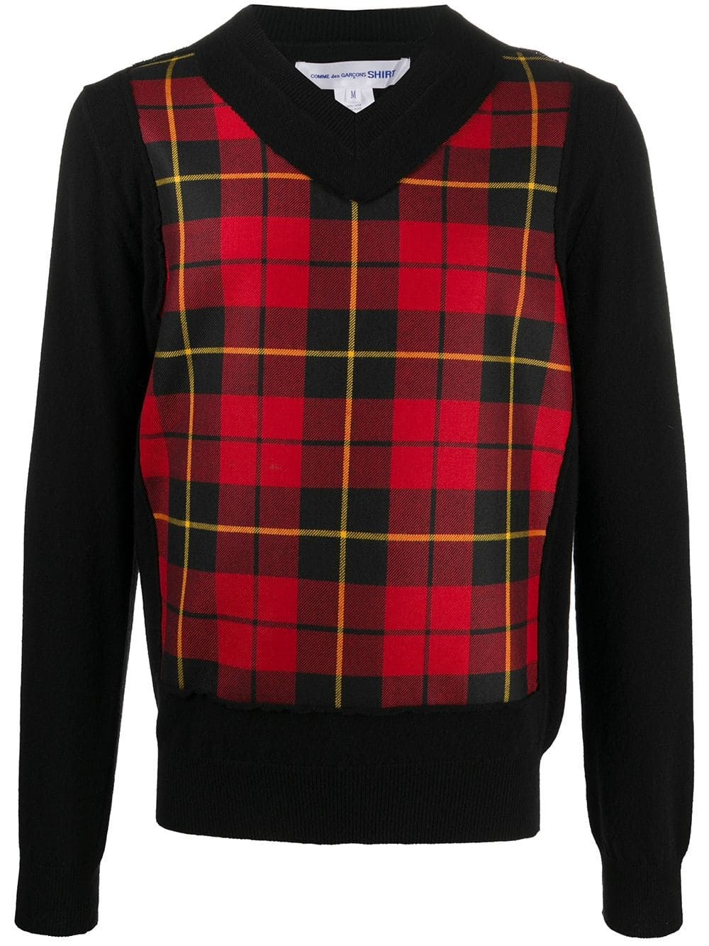 COMME DES GARCONS SHIRT Tartan Panel Sweater