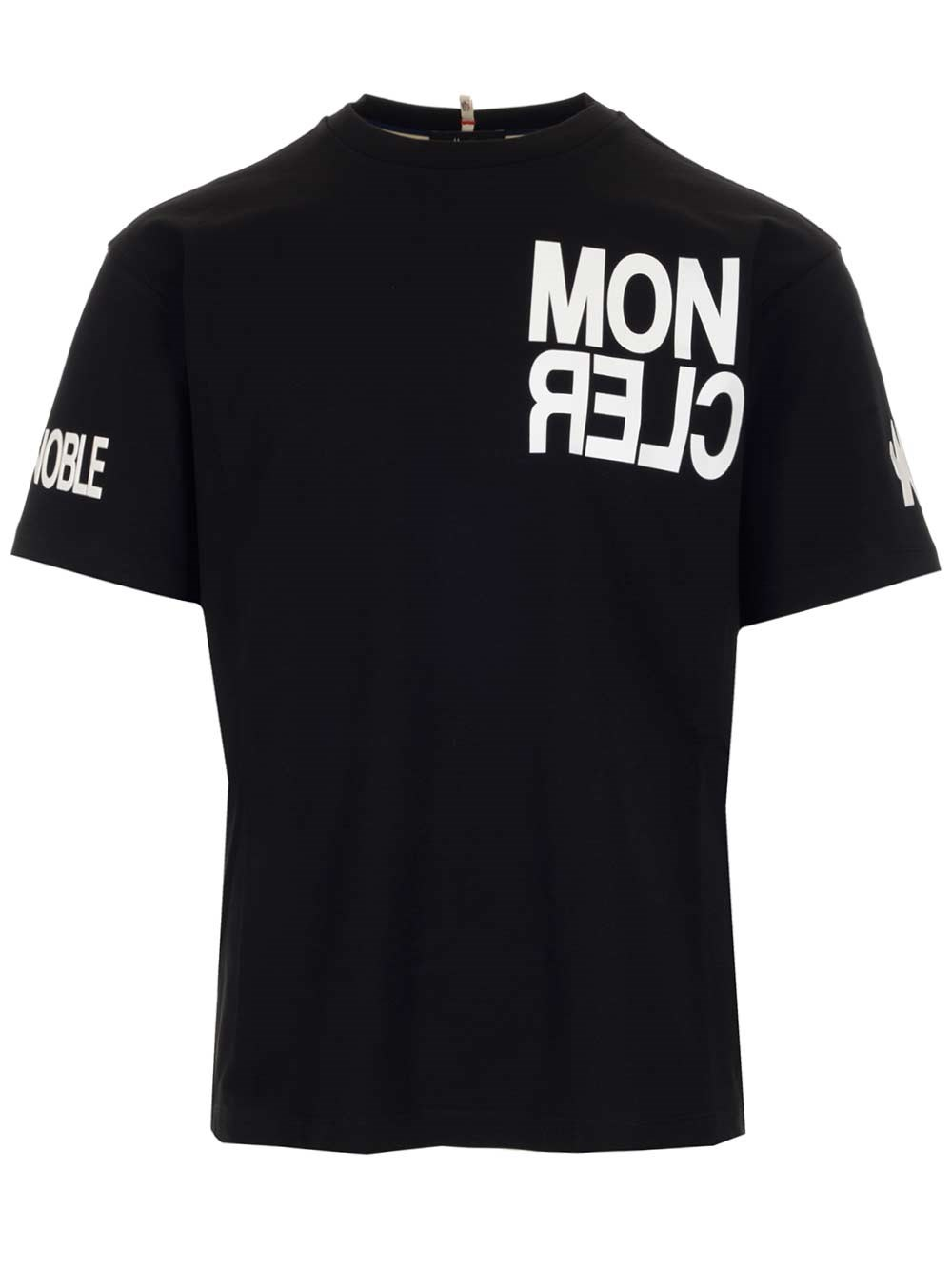 MONCLER GRENOBLE Black T-Shirt With Max Logo