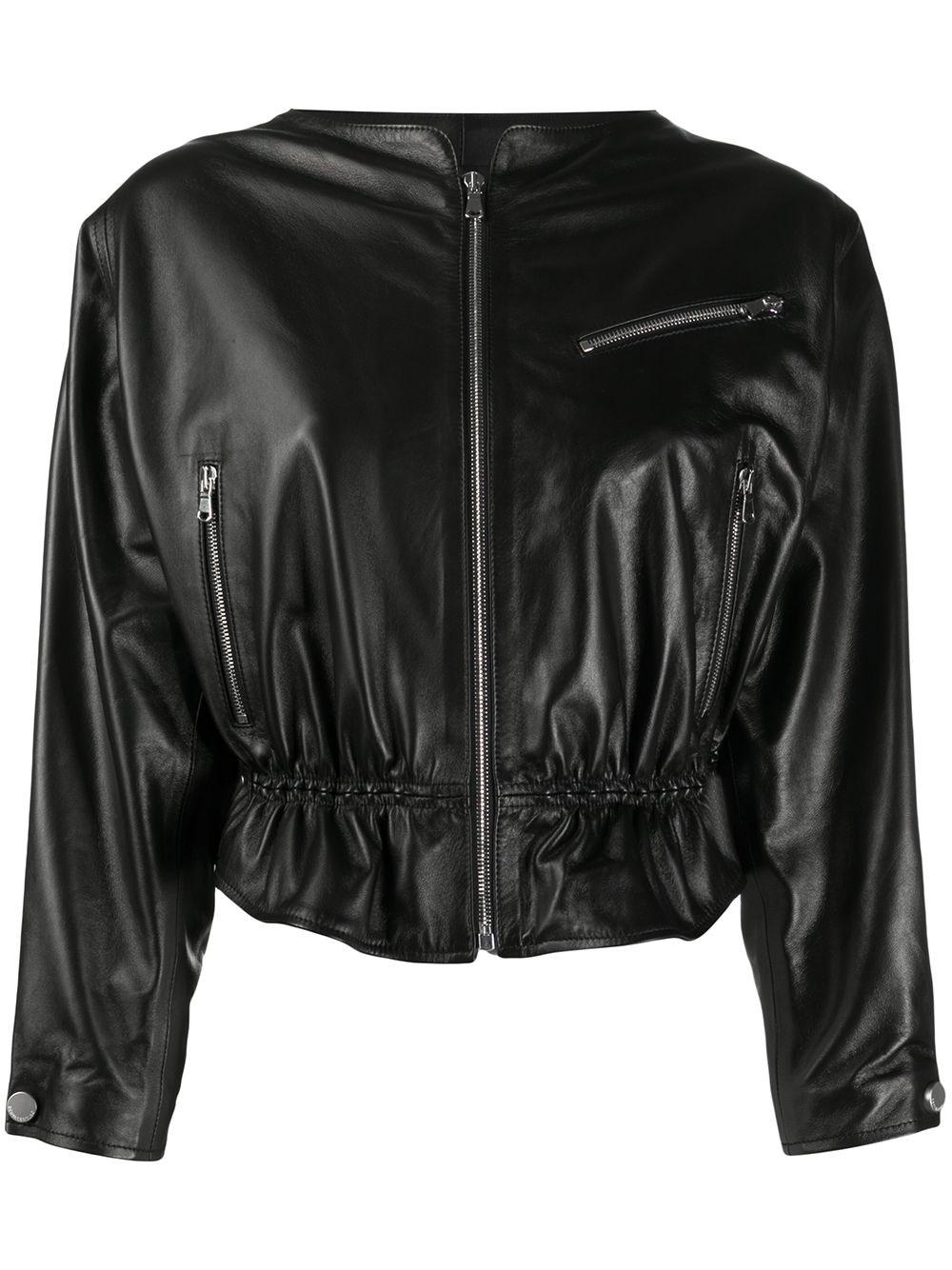 REDVALENTINO Black Nappa Leather Jacket