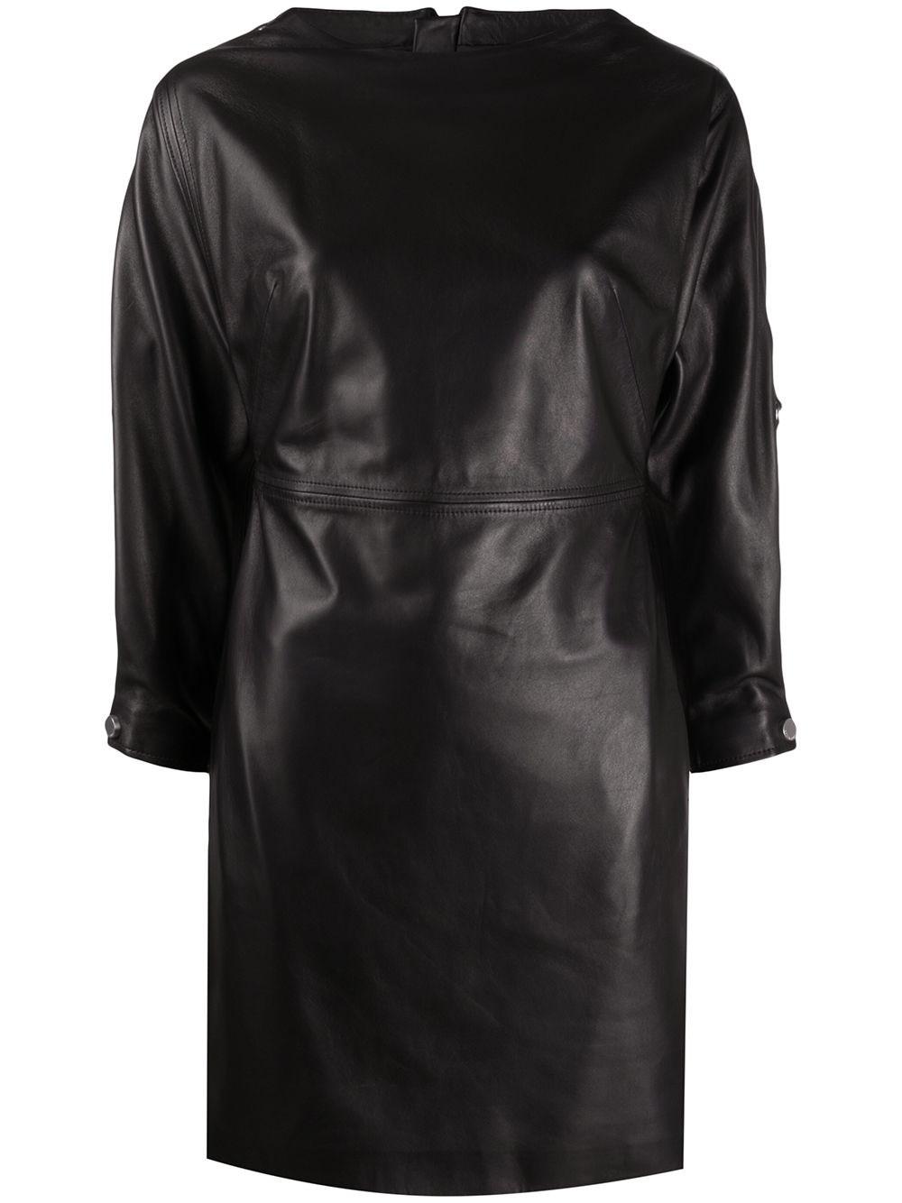 REDVALENTINO Black Nappa Mini Dress