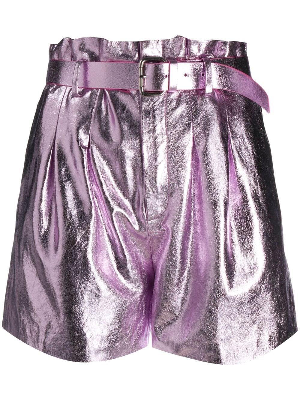REDVALENTINO Laminated Nappa Shorts