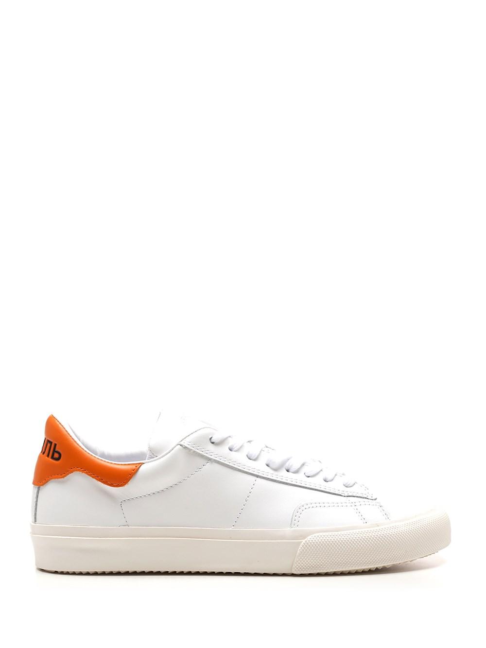 HERON PRESTON White Sneaker With Orange Detail