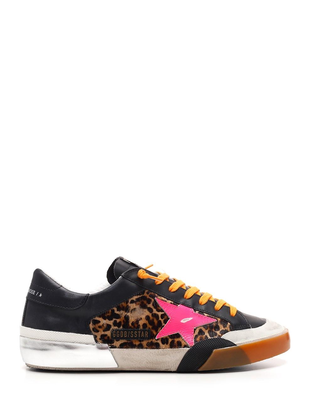 """GOLDEN GOOSE DELUXE BRAND Leopard Print """"Superstar"""" Sneakers"""