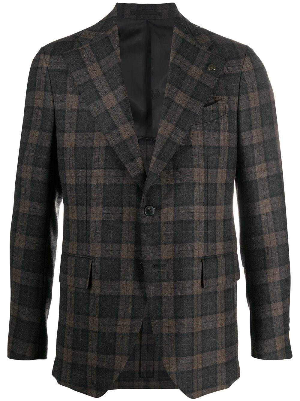 GABRIELE PASINI Plaid Print Single-Breasted Blazer