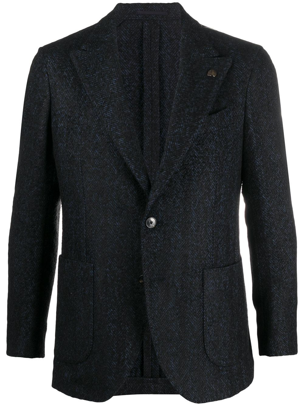 GABRIELE PASINI Chevron Knit Single-Breasted Blazer