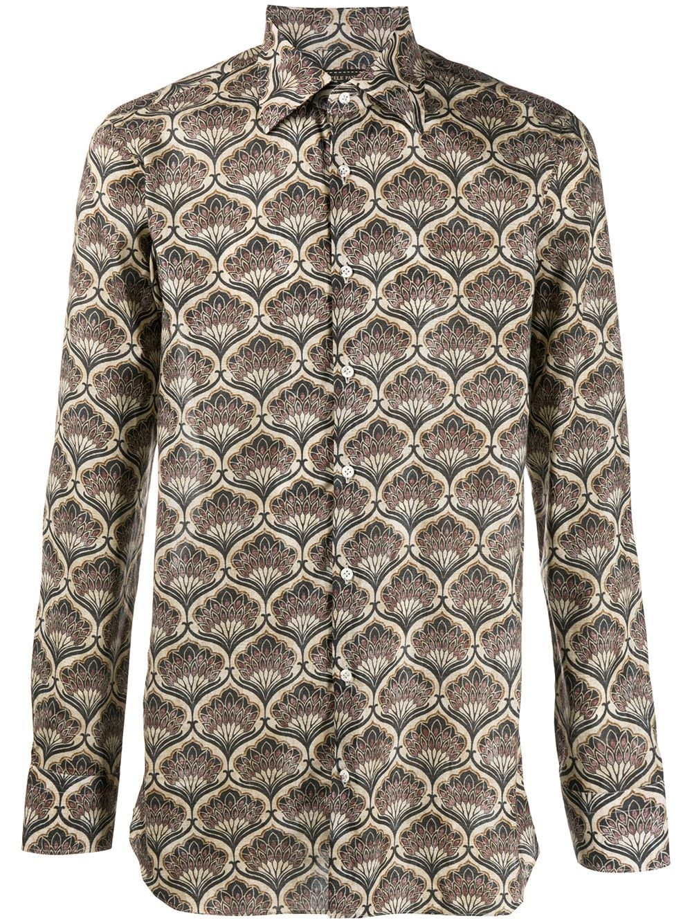 GABRIELE PASINI Geometric Long-Sleeve Shirt