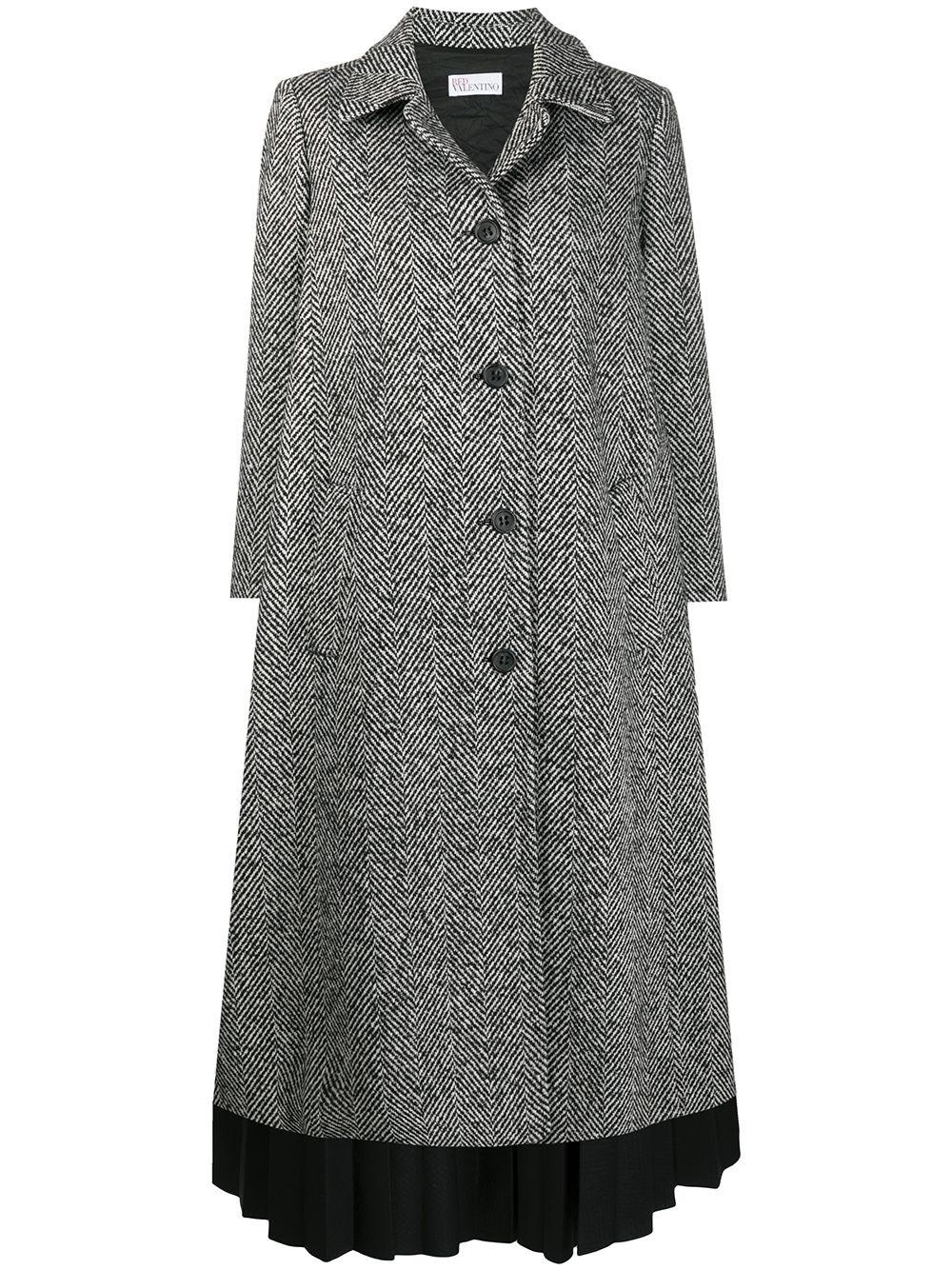 REDVALENTINO Coat In Macro Chevron