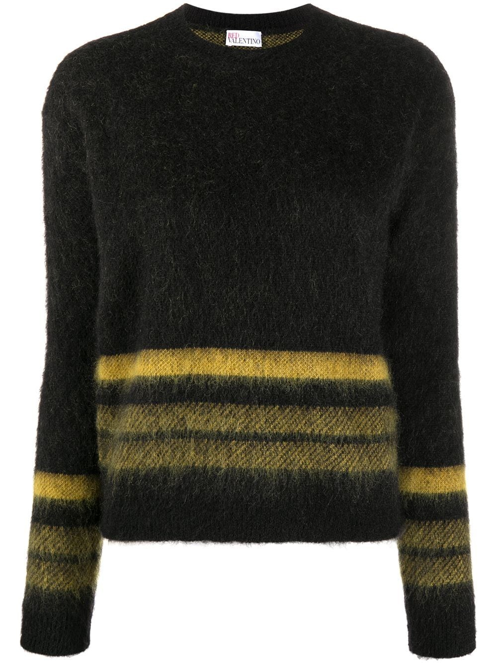 REDVALENTINO Wool And Mohair Crewneck Sweater