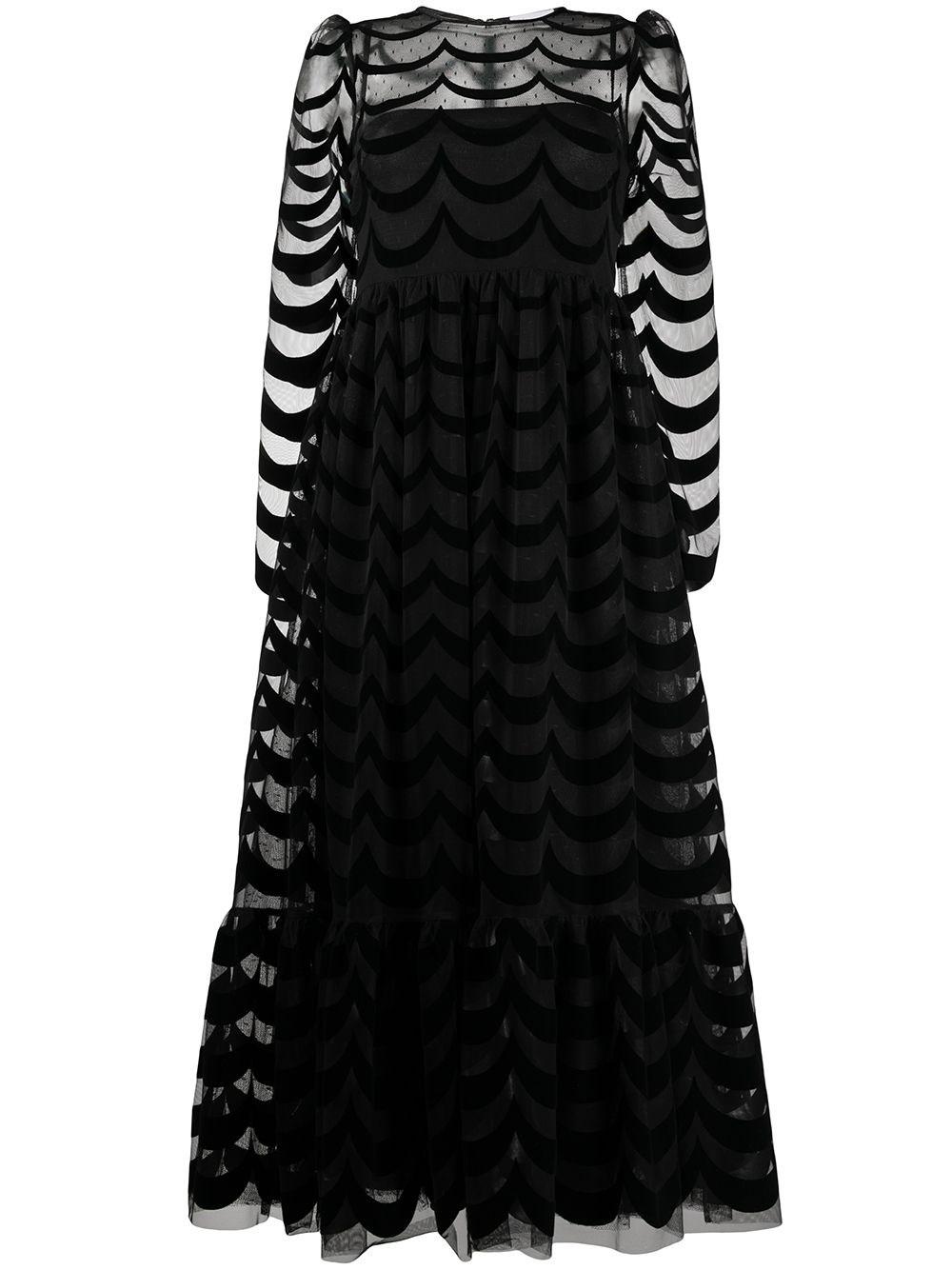 REDVALENTINO Black Maxi Dress