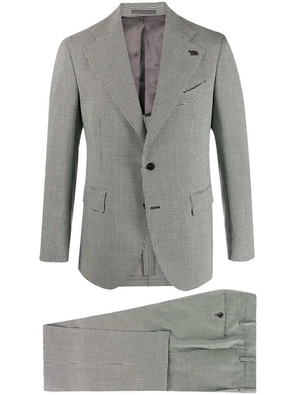 GABRIELE PASINI Single Breasted Houndstooth Suit