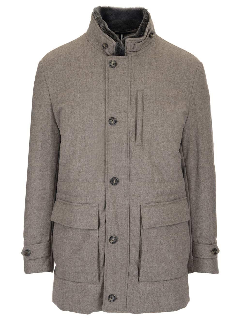 SCHNEIDERS Taupe Brown Wool Jacket