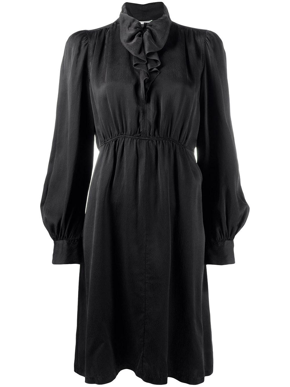 FORTE_FORTE Drape-Neck Midi Dress