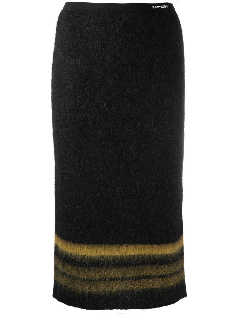 REDVALENTINO Mohair Knit Pencil Skirt