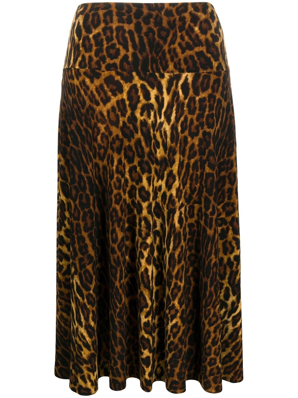 NORMA KAMALI High-Waisted Leopard-Print Skirt