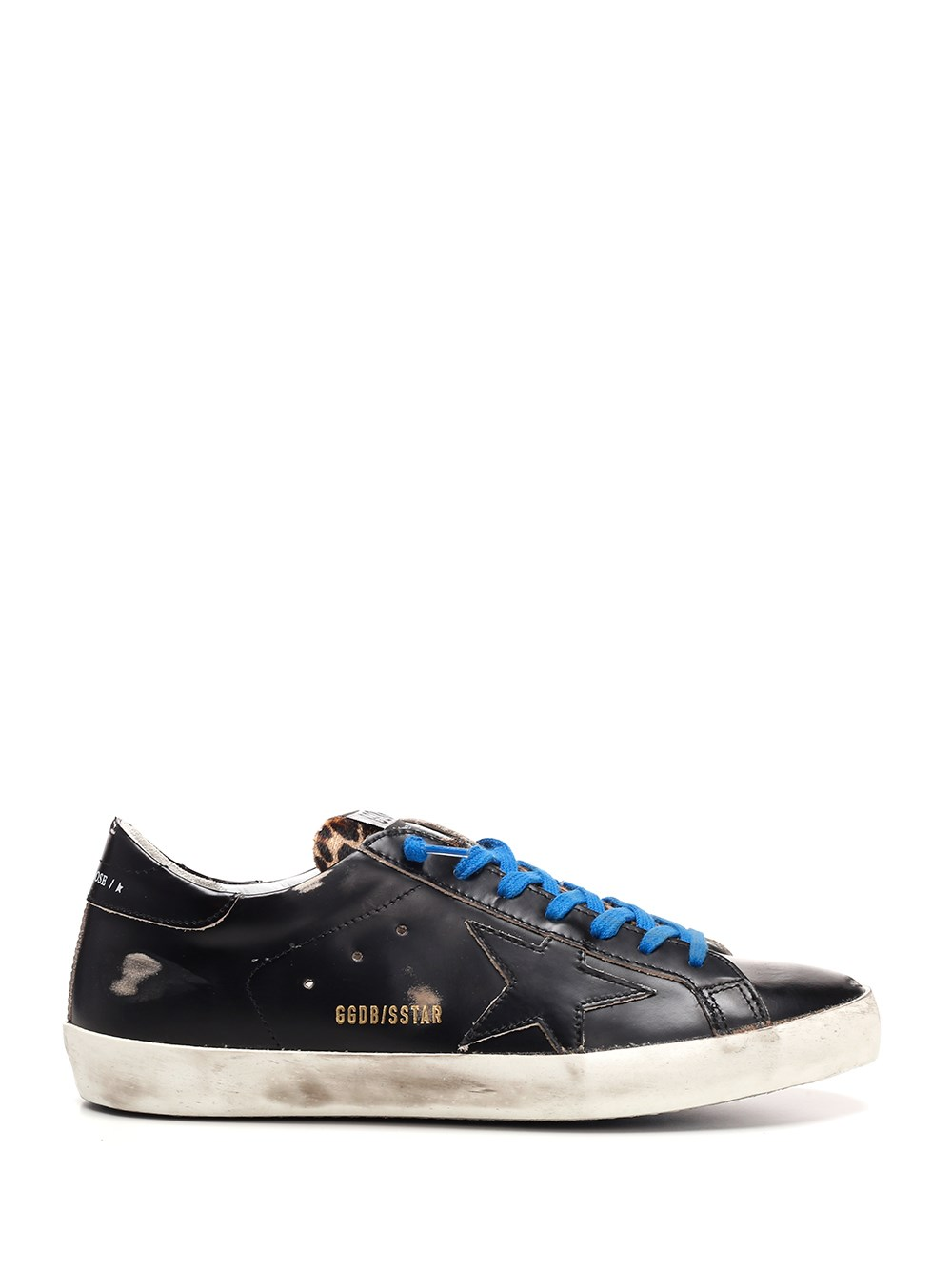 "GOLDEN GOOSE DELUXE BRAND Black And Leopard ""Super Star"" Sneakers"