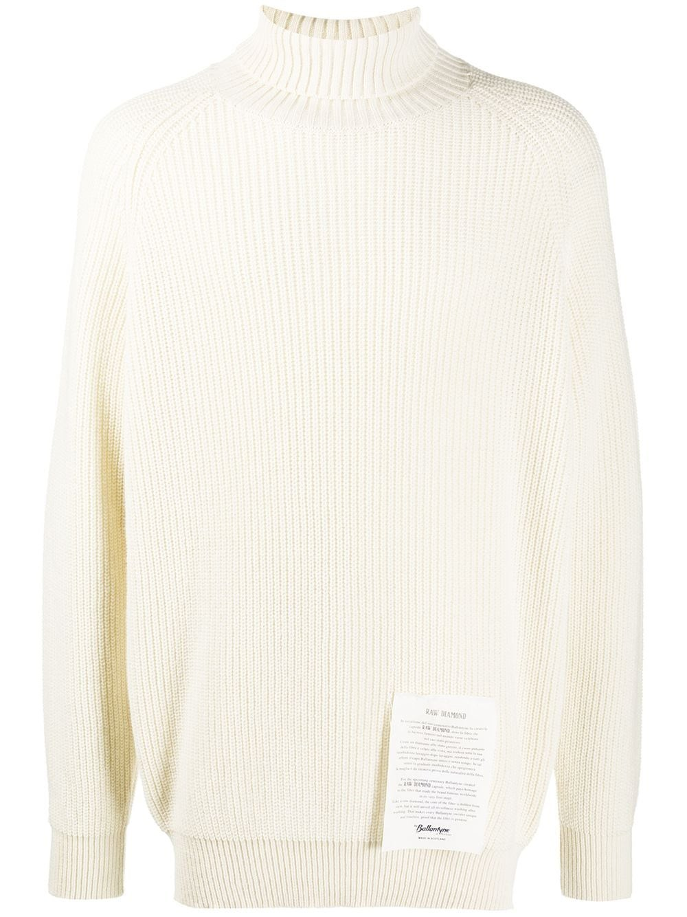 RAW DIAMOND BY BALLANTYNE Roll-Neck Cashmere Jumper