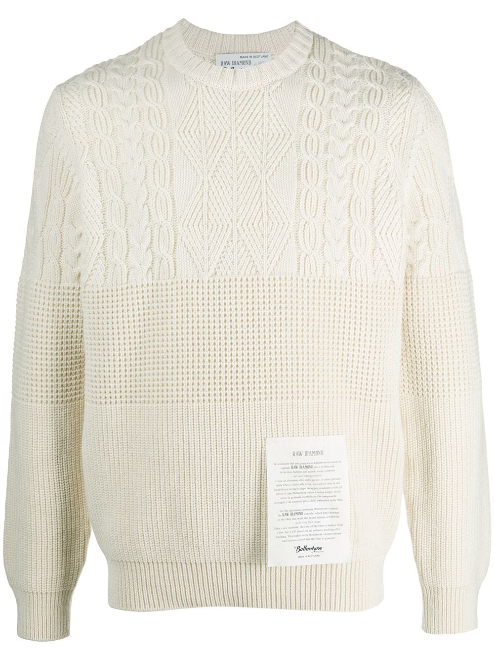 RAW DIAMOND BY BALLANTYNE Logo Patch Cashmere Knit Jumper