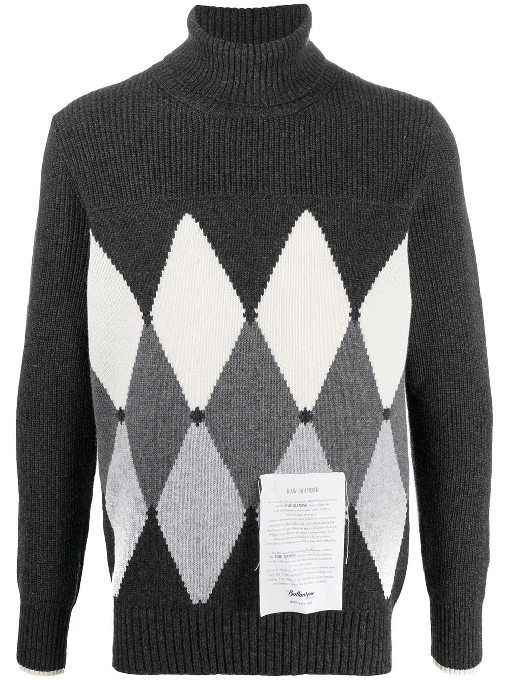 RAW DIAMOND BY BALLANTYNE Diamond Cashmere Jumper