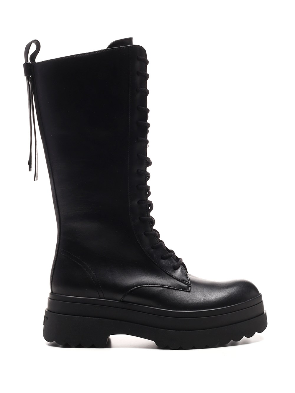 RED (V) High Top Combat Boot