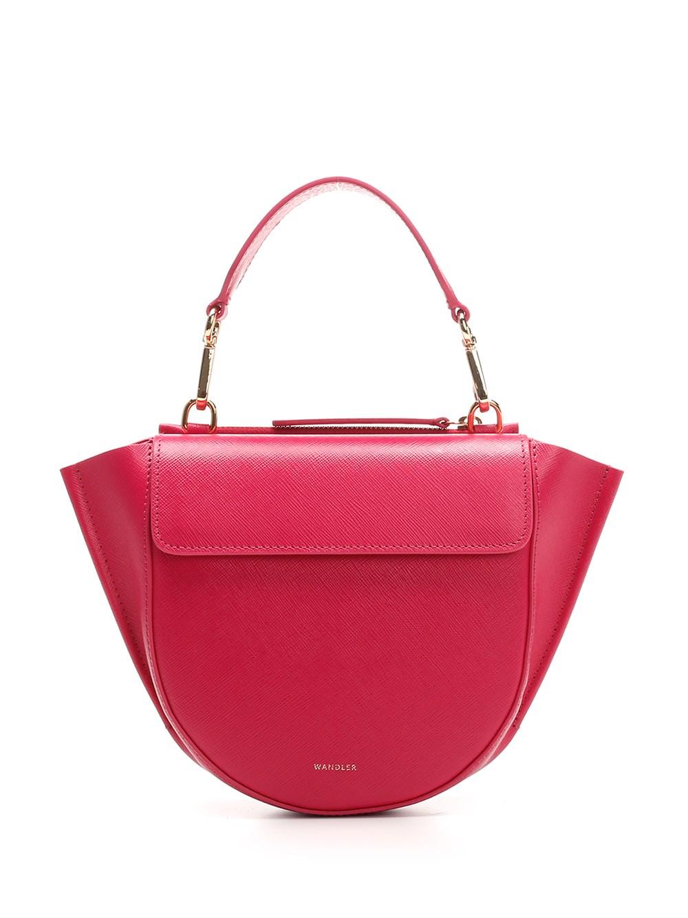 """WANDLER """"Hortensia"""" Mini Shoulder Bag In Pink Leather"""