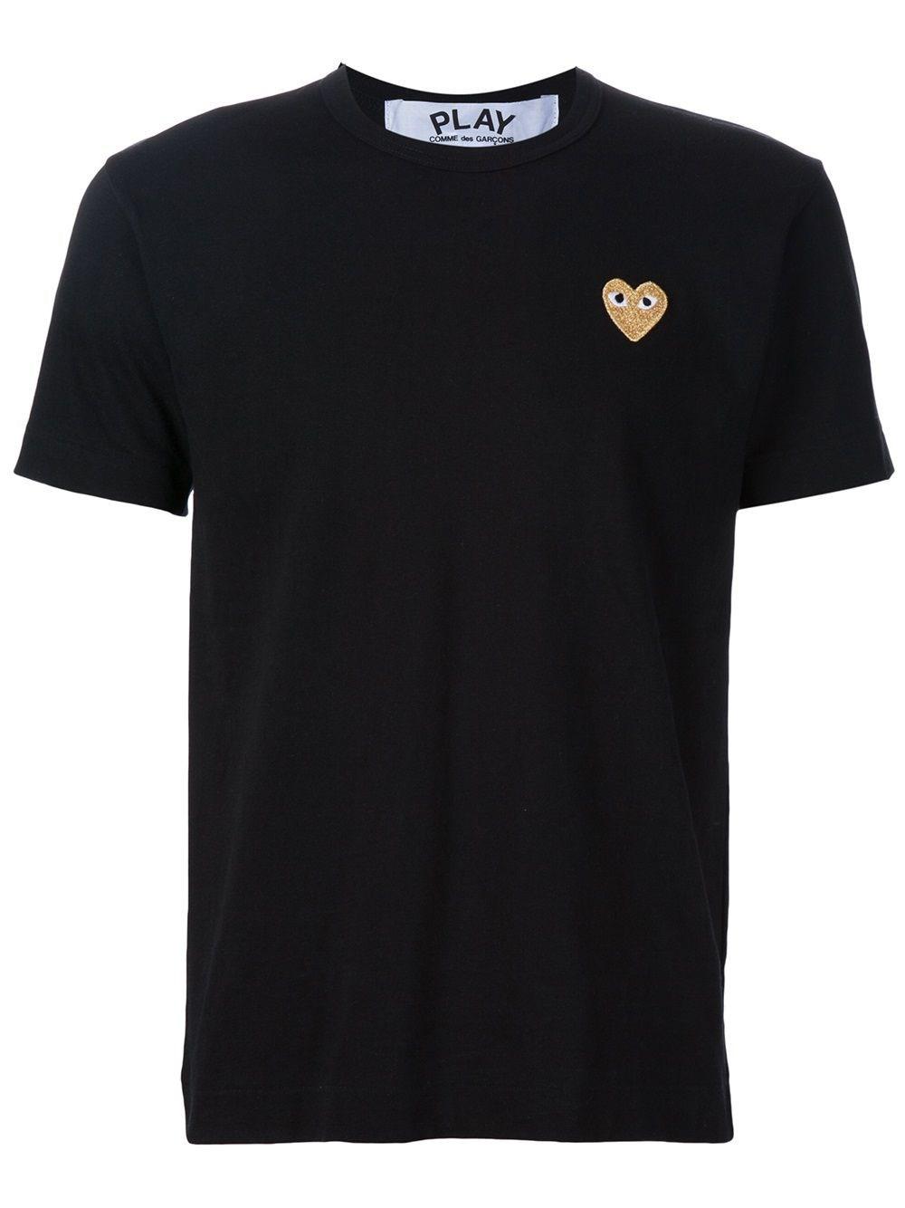COMME DES GARCONS PLAY Golden Heart Patch T-Shirt