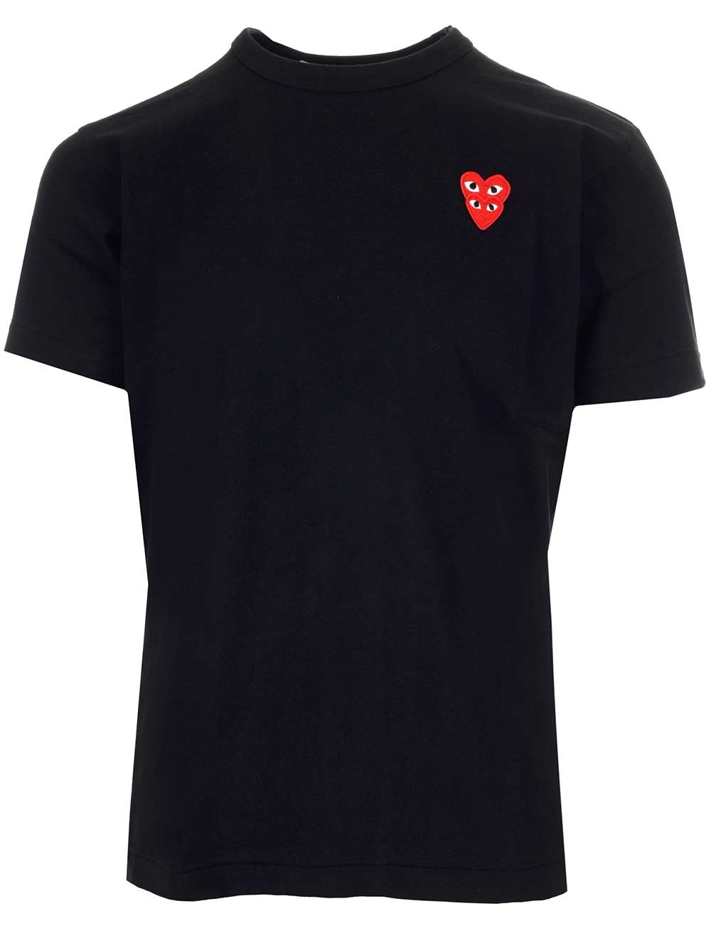 COMME DES GARCONS PLAY Embroidered Double Hearts T-Shirt