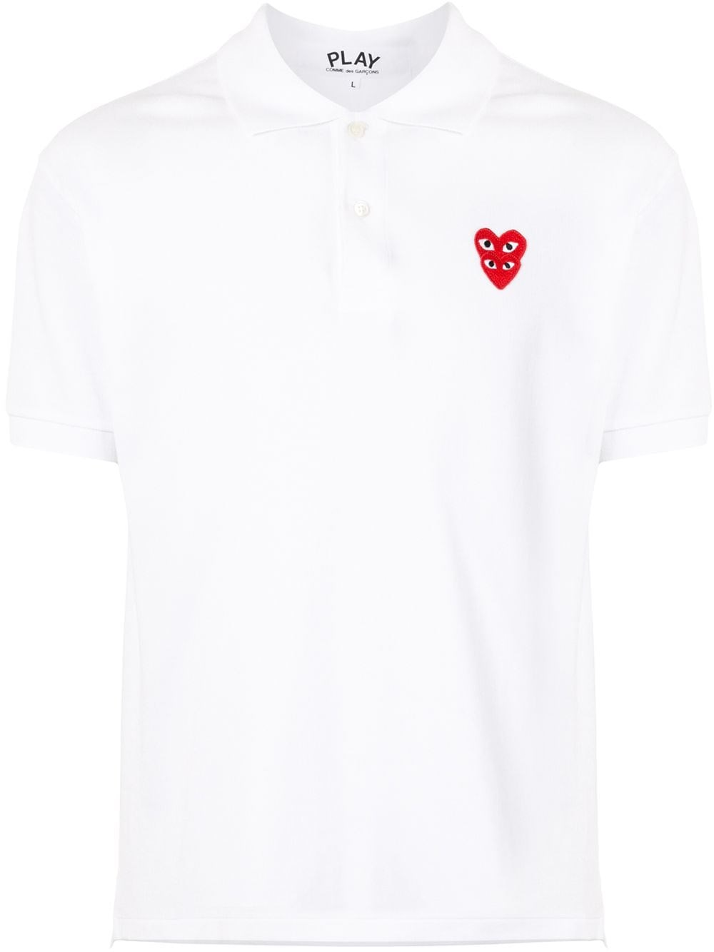 COMME DES GARCONS PLAY Classic Polo Shirt Double Heart