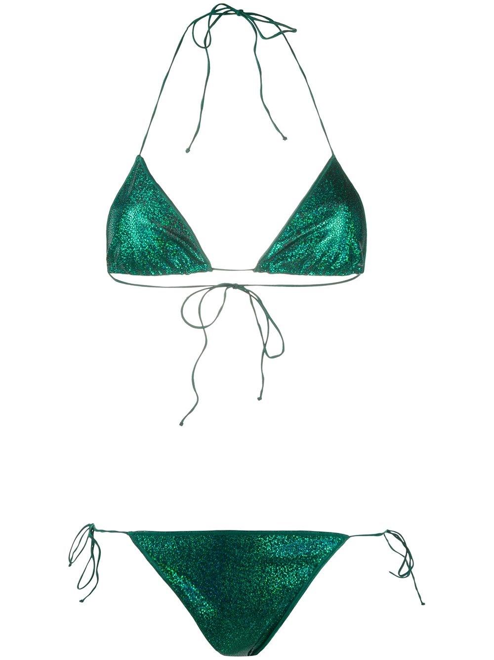 OSEREE Metallic Serpent Bikini Set
