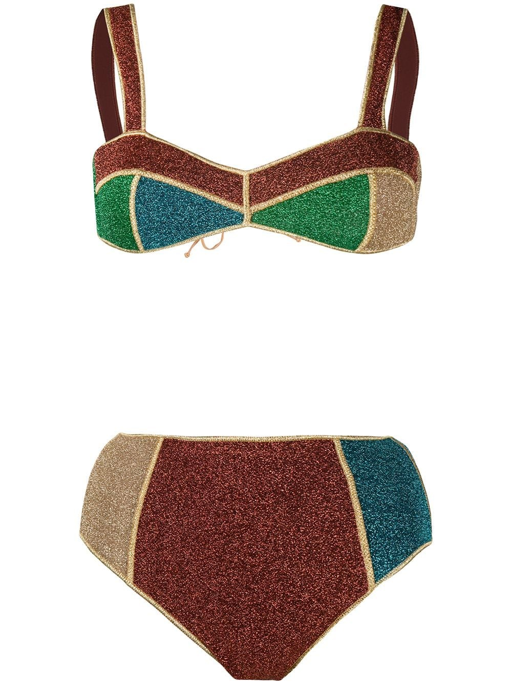 OSEREE Colour-Block Fitted Bikini