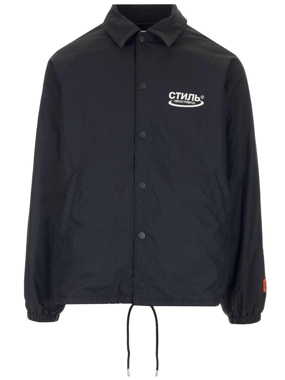 HERON PRESTON Black Coach Ctnmb Jacket