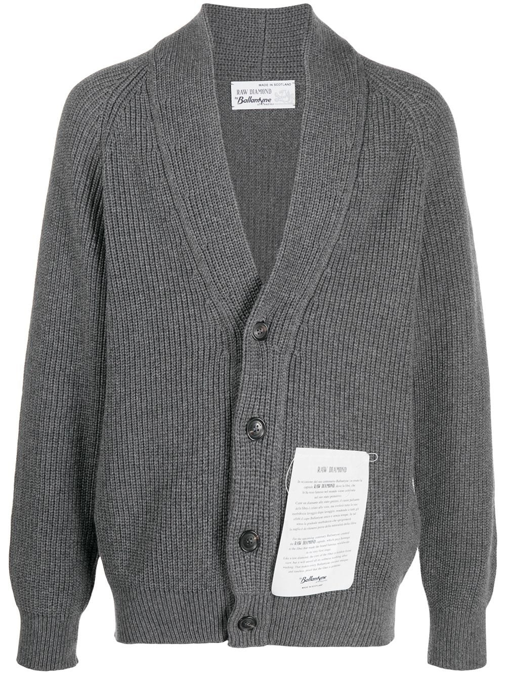 RAW DIAMOND BY BALLANTYNE Button-Up Cashmere Cardigan