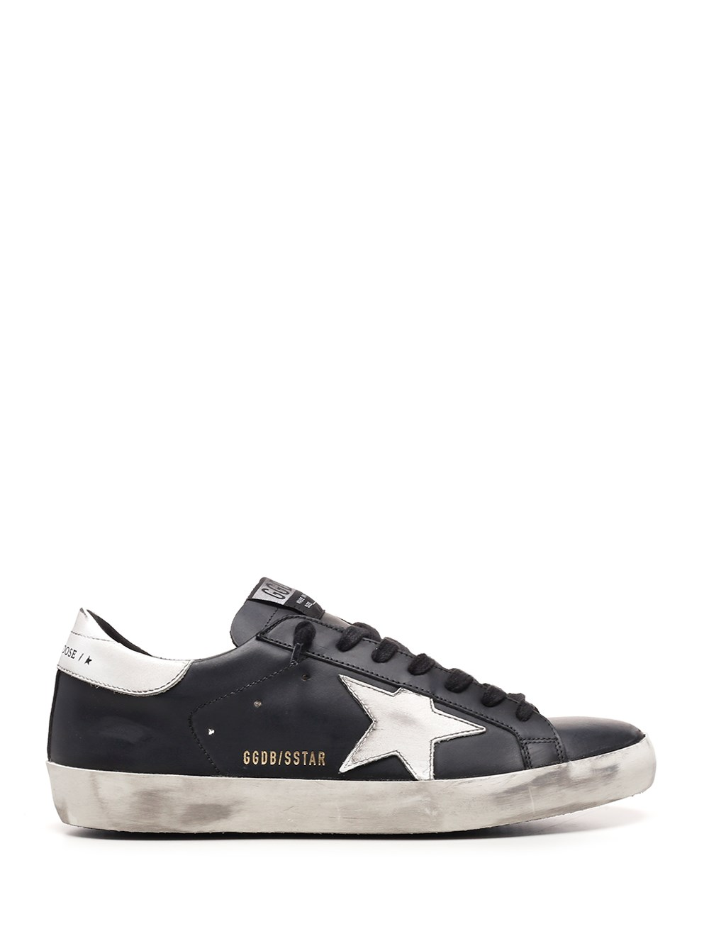 "GOLDEN GOOSE DELUXE BRAND Black And White ""Super Star"" Sneakers"