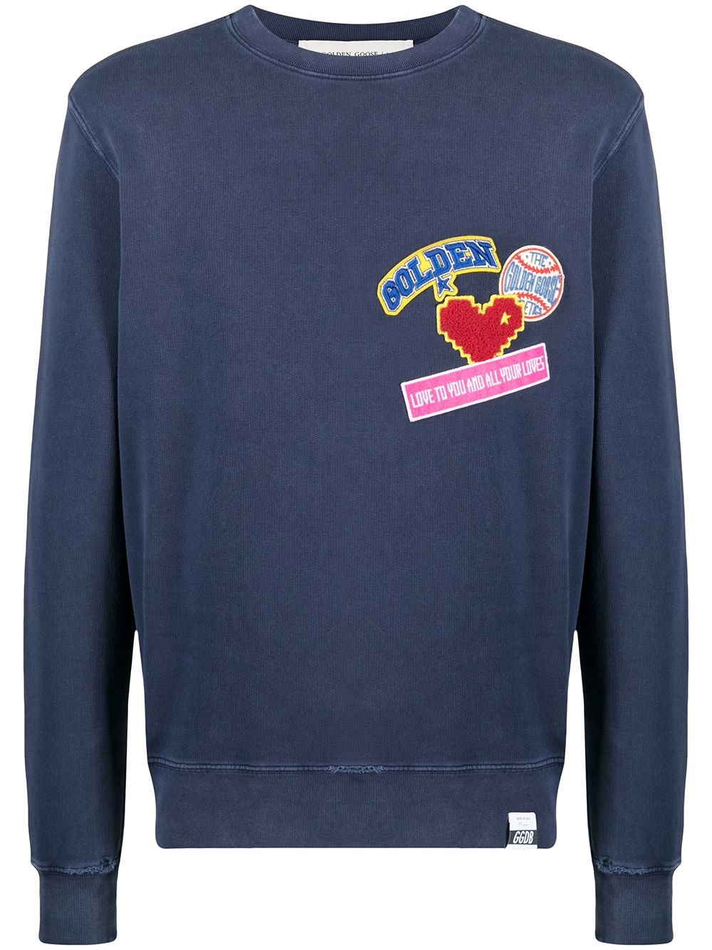 "GOLDEN GOOSE DELUXE BRAND ""Archibald"" Sweatshirt With Patches"