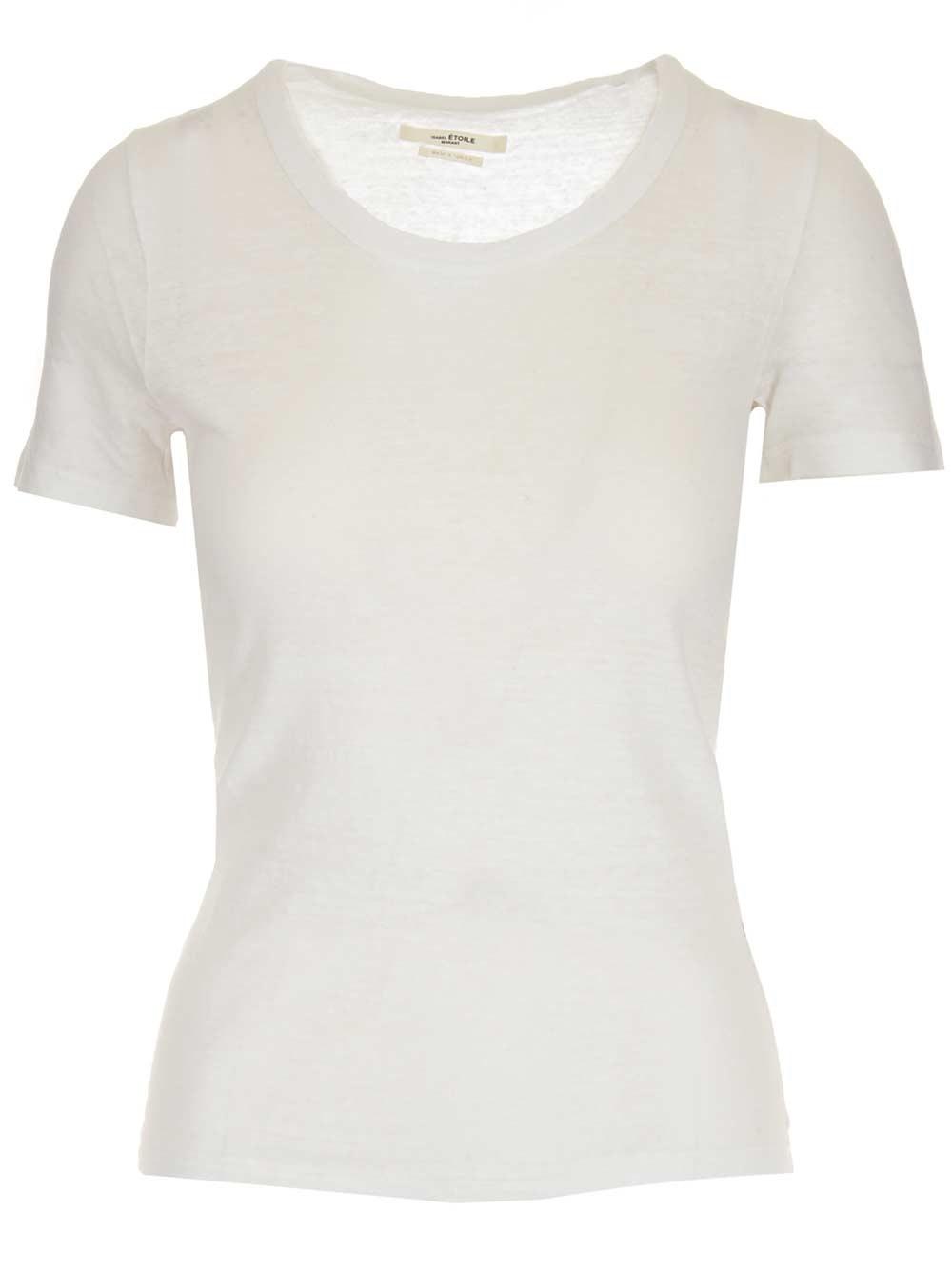 """ISABEL MARANT ETOILE """"Kiliann"""" White Linen T- Shirt"""