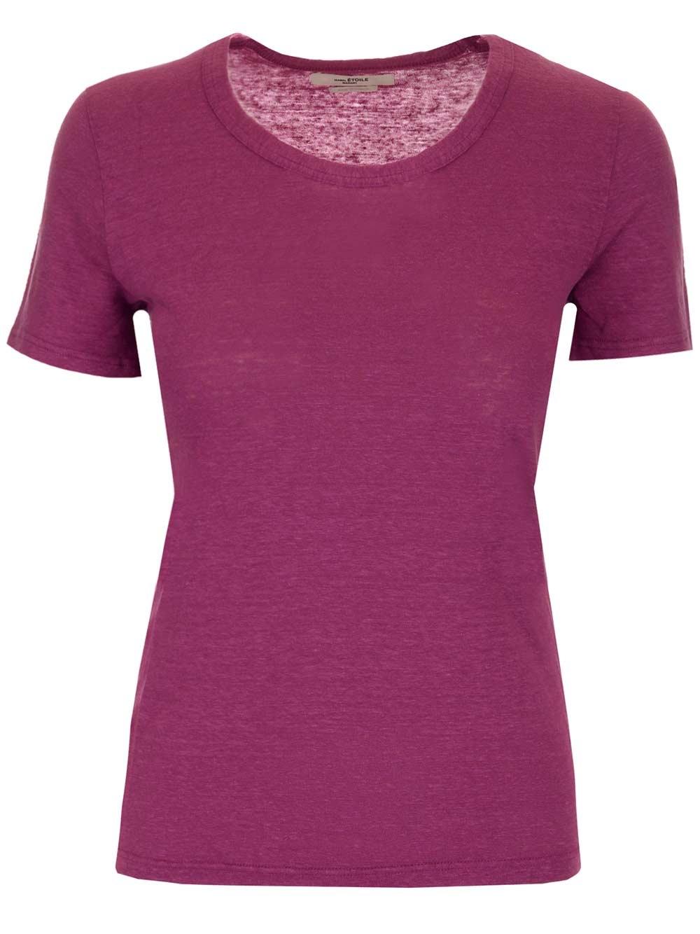 """ISABEL MARANT ETOILE """"Kaliann"""" Linen T-Shirt"""