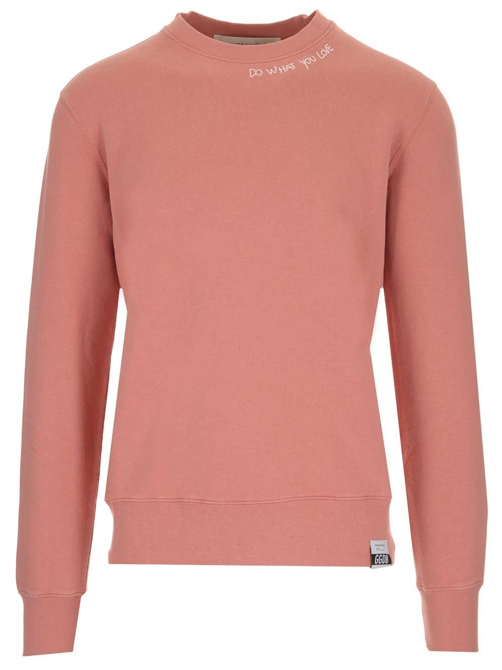 """GOLDEN GOOSE DELUXE BRAND """"Archibald"""" Pink Crewneck Sweatshirt"""