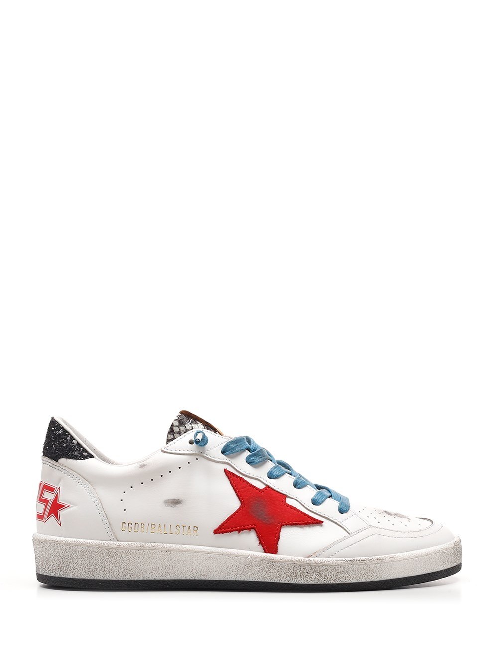 "GOLDEN GOOSE DELUXE BRAND ""Ball Star"" Sneakers With Python-Effect Insert"