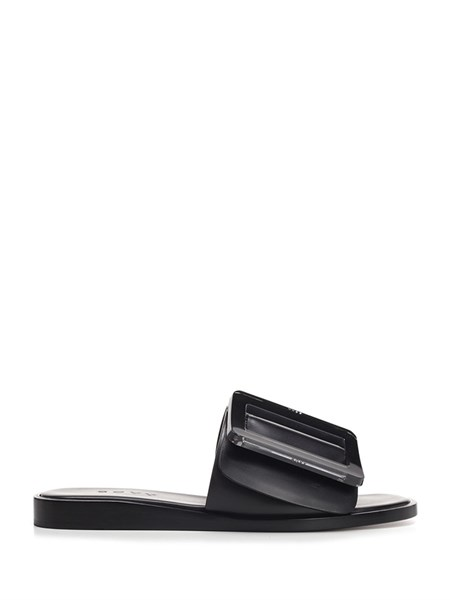 Boyy Black leather sandals