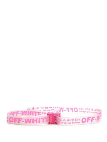 scarpe di separazione 27961 32a1f off-white Pink rubber industrial belt available on alducadaosta ...